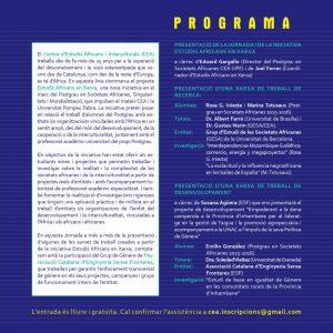 """17/01 – Jornada """"Estudis Africans en Xarxa"""""""