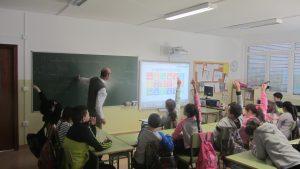 Visita al CEIP Porrúa con el Taller de Objetivos de Desarrollo Sostenible