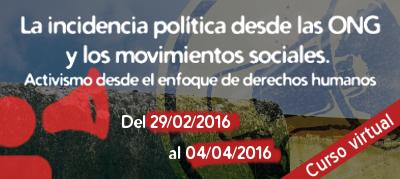 Incidencia política 2016